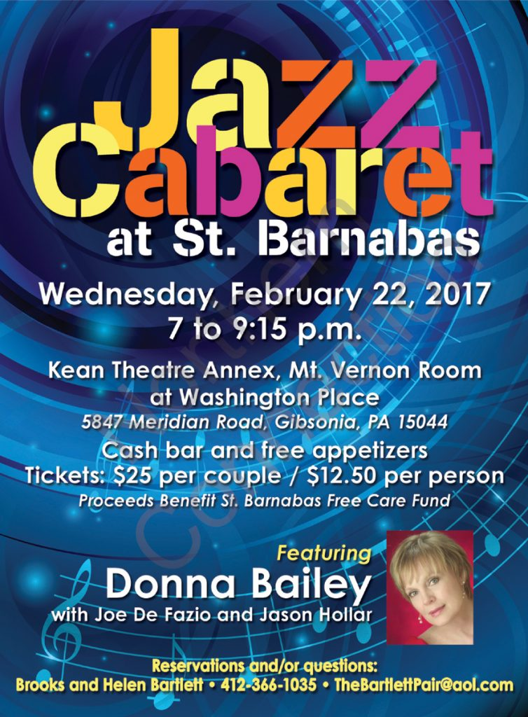 Jazz Cabaret at St. Barnabas - February 22, 2017